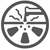 brake dust damaged wheel icon