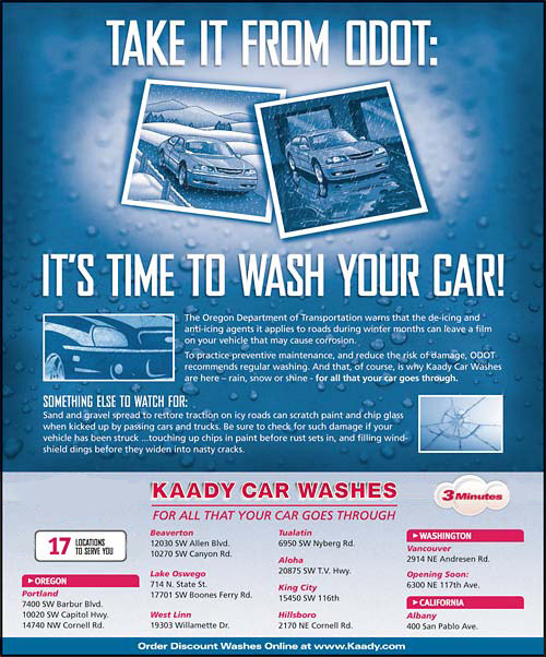 Kaady Car Washes ODOT poster photo