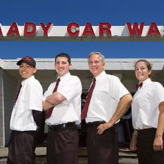 Kaady Car Washes employee and customer photo